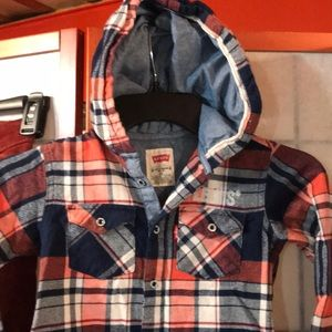 Levi's Flannel and Denim shirt Sz 4T